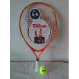Raqueta Tenis Wilson Para Niños 21 Con Forro, Pelota Y Envi