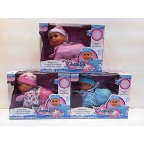 Muñeca Mini Bebe Con Sonido Gatea Y Rie 16 Cm