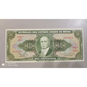 Nota/cedula De Ncr$ 0,01 Dez Cruzeiro Novo Getúlio Vargas