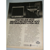 Propaganda Antiga Compre Televisor General Eletric 1970/80