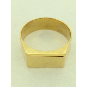 Anel Chapinha Em Ouro 18k 750 Com Garantia Permanente Anw78