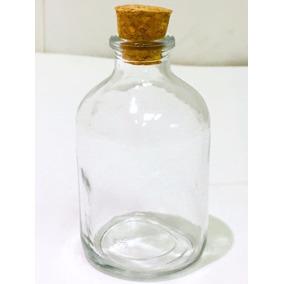 Frasco Laboratorio Antibiotico C/ Tapa Corcho 50 Cc 10 Unid