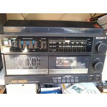 Som 3 X 1 Sony Ad-1500 Funciona Radio(para Conserto)