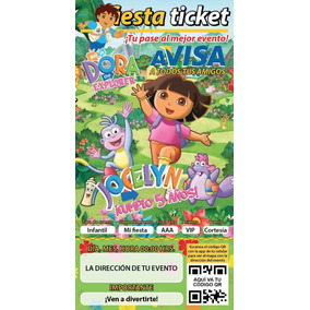 Invitaciones Dora La Exploradora Personalizadas