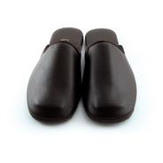 Pantuflas En Cuero. Zapatos Para Hogar Cómodos Hombre