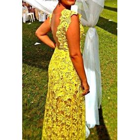 Vestido De Festa Renda Amarela 40/42