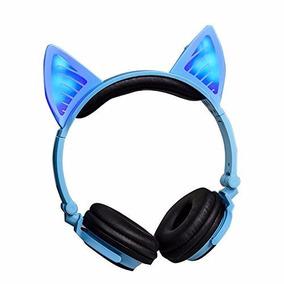 Audifonos Orejas Gato Wifi Bluetooth Mobile Phone Pc Azul