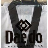 Uniforme De Taekwondo Daedo Original Negro Blanco Wtf Adulto