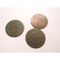 Antiguas Monedas Patacones Alfonso Xii Españoles De Cobre