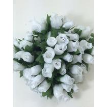 144 Mini Rosa Flores Rosinhas Artificiais Cetim Lembrancinha