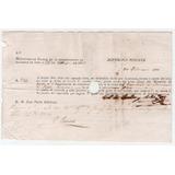 1826, Billete Letra Por 500 Pesos