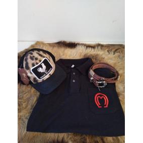 Kit Camisa Mangalarga + Cinto Feminino + Boné Made In Mato