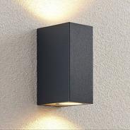 Aplique Exterior Negro Bidireccional Led Gu10 Artelum Nico