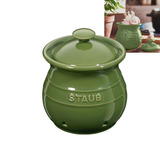 Pote De Cerâmica Para Alho Staub Verde 12 Cm - 18397