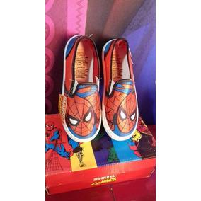 Tenis Marvel Cómics Súper Heroes Spiderman Moda Niños