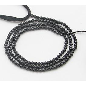 Black Spinel Espinelio Negro Fio Bola Fac 2mm Teostone 2431
