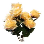 Buquê De Rosas X9 55cm - Pêssego Outono