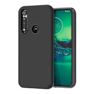 Funda Armor Soft Antigolpes + Vidrio 5d Moto G8 Plus Play