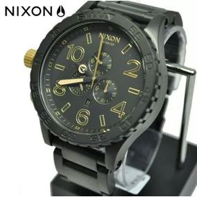 6652060129e Relógio Nixon 51-30 Preto Detalhes Dourado Pronta Entrega