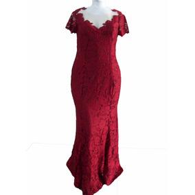 # Vestido Festa De Renda Poliamida - Plus Size Do 44 Ao 54 #