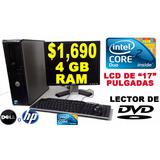 Computadoras Baratas Hp Y Dell Para Cyber + Lcd Completas