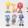 Conjunto 6 Bonecos Sonic The Hedgehog