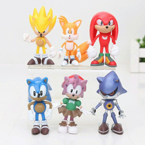 Conjunto 6 Bonecos Sonic The Hedgehog