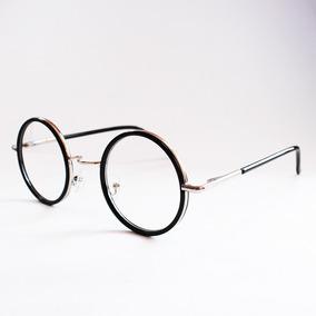 Armação Óculos Grau Redonda Hippie Vintage Harry Potter Top