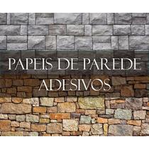 Adesivo Papel Parede Decorativo - Pedras Canjica Madeira
