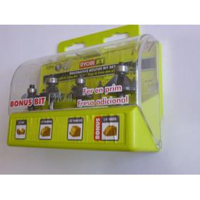 Ryobi Kit De 4 Brocas Para Router 1/4 Cualquier Marca
