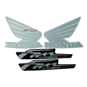 Kit Adesivos - Jogo Faixa Moto Fan 150 - 2012 Esdi Vermelha