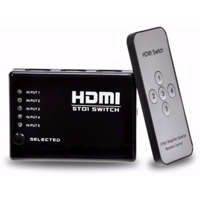 Hub Switch Hdmi 5 Portas Full Hd + Controle Remoto Sensor