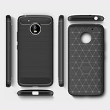 Motorola Moto G6 / Plus Funda Protector Tipo Fibra De Carbon