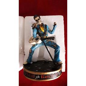 Escultura Elvis Presley Calavera De 15 Cm.