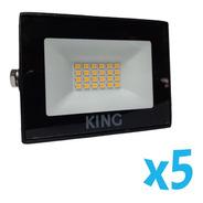 5 King Reflector Led 10w Blanco Frío 6500k Ip65 Exterior