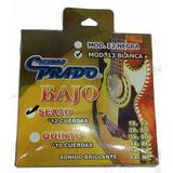 Cuerdas Bajo Sexto Prado 13-12 Blancas Hechas En México