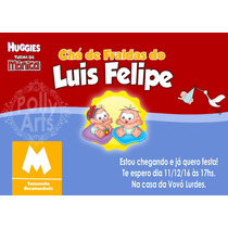Arte Convite Cha De Fraldas / Bebe Turma Da Monica Pampers