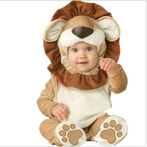 Mameluco Disfraz Leon Traje Para Bebe