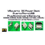 Lote (10) Unidades V8 Dc Power Jack Micro Usb Plug Socket