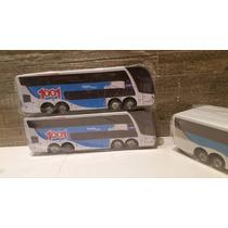 Miniatura De Ônibus G7 Dd Viação 1001 Em Madeira S/retroviso