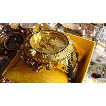 Relógios Funcionais 350g Grande Dourado Preto Prata Ajustáve