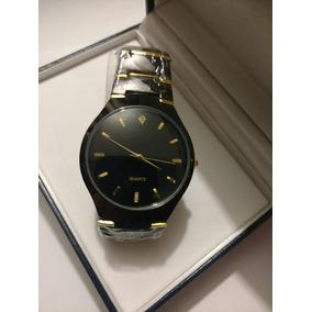 Reloj Negro De Hombre Con Estuche Y Envío Gratis