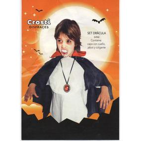 Disfraz Drácula Niño Set Capa-yabot-diente-medallón Belgrano