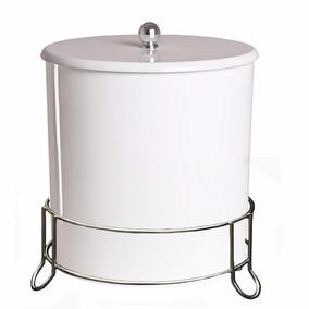 Lixeira 6l C/ Suporte Pia Ou Chão Banheiro Lavabo 402
