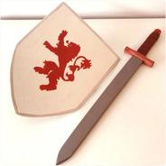 Espada Y Escudo Rey Caballero Medieval De Madera Baum