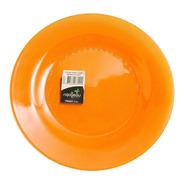X12 Plato Postre Trendy Naranja, Rigolleau - Bazar Colucci