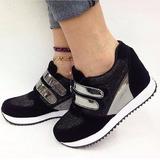 Botin Tacon Deportivos De Moda Negro Mujeres Zapato Mujer
