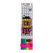 Lapices Mooving Coloring Neon Fest Colores Neon X6