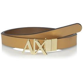 A | X Armani Intercambio Mujer Ax Logo Bisagra Cinturón, Ca