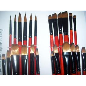 Set X 24 Pinceles Profesionales Artistica/oleo/acrilico